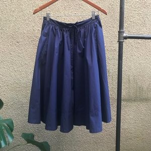 Comptoir des Cotonniers Midnight Blue Circle Skirt